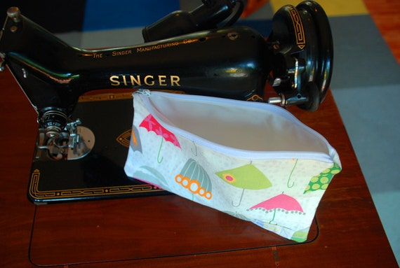 cloth wipes / washcloths bag - family cloth - cloth diapering - esbaby - umbrella print