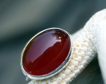 Carnelian Ring in Sterling - Made to Order
