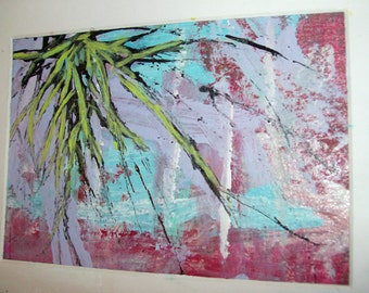 LET IT BE No 26 - Original Abstract Painting - 5x7 inches, Matted