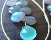 ON SALE Labradorite Teardrop Gold Earrings