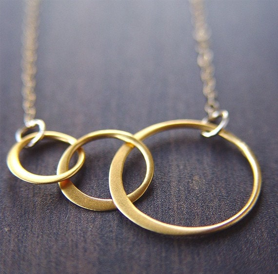 SALE Interlocking Circle Gold Necklace