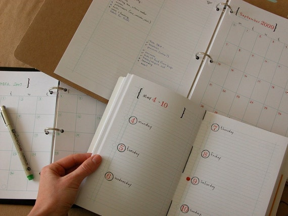 Diy Notebook Calendar : Items similar to diy planner and calendar pdf digital