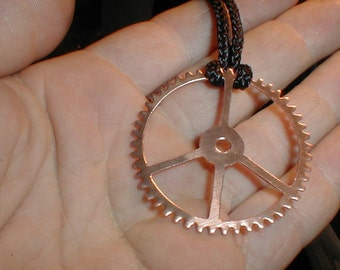 Steampunk Peace Sign Pendant