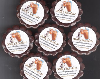 4 MILK CHOCOLATE DRINK Scented Wickless Candle Wax Tarts Hand Poured