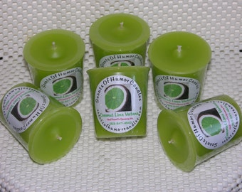 6 COCoNUT LIME VERBENA BBW Votive CandlesType Dupe Scented Wax