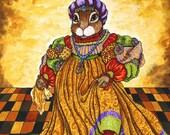 Rabbit Art Print Rabbit in Tudor Costume