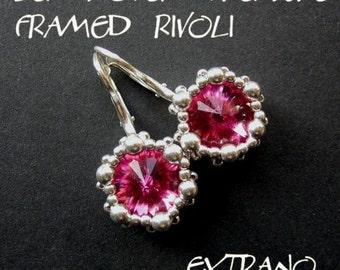 TUTORIAL - earrings - FRAMED RIVOLI - immediate download