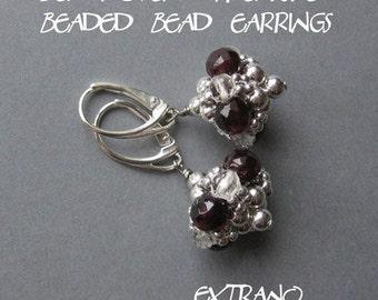 TUTORIAL - earrings, beaded bead - BEADED BEAD  - immediate download