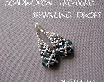 TUTORIAL - earrings - SPARKLING DROPS - immediate download