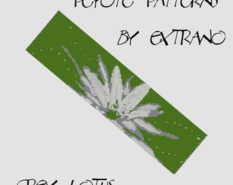 Peyote Bracelet Pattern by Extrano -  GREY LOTUS - 4 colors ONLY - Instant download