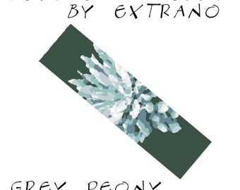 Peyote Bracelet Pattern by Extrano -  GREY PEONY - 6 colors only - Instant download