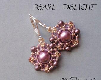 TUTORIAL - earrings - PEARL DELIGHT - immediate download