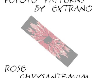 Peyote Bracelet Patterns by Extrano - ROSE CHRYSANTEMUM - 4 colors ONLY - Instant download