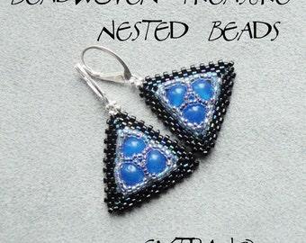 TUTORIAL - earrings - NESTED BEADS - immediate download