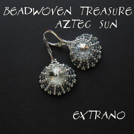 TUTORIAL - earrings - AZTEC SUN Rivoli - immediate download