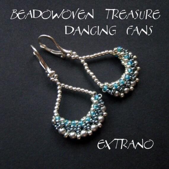 TUTORIAL - earrings - DANCING FANS - immediate download