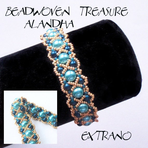 TUTORIAL - Beadwoven Treasure - ALANDHA Bracelet - immediate download