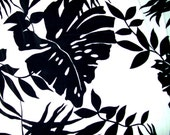 NEW Black White Large Tropical Print - Poly Rayon Crepe - FABULOUS FABRIC