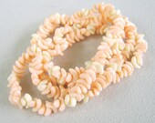 Vintage Peach Cream Necklace Sixties Crescent Beads Reserved for Chriss