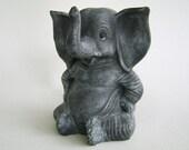Vintage Saggy Baggy Elephant Figurine Seventies Ceramic