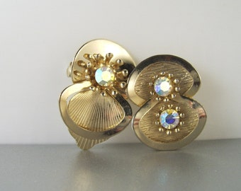Vintage AB Rhinestones Brooch Pins Lot