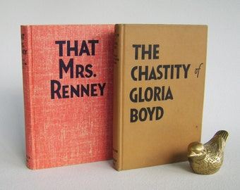 Vintage Pulp Fiction Novels Books Donald Henderson Clarke That Mrs. Renney & The Chastity of Gloria Boyd