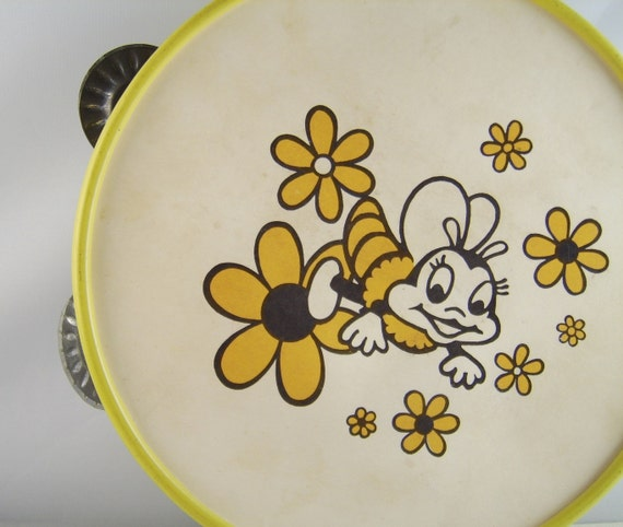 Vintage Romper Room Do Bee Toy Tambourine By Uncommonvintage