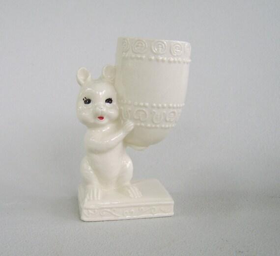 Vintage Ceramic Squirrel Planter