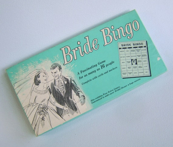 Vintage Bridal Shower Game Fifties Wedding Bride Bingo
