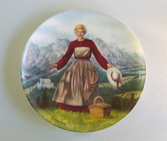 Vintage The Sound of Music Collector's Plate Julie Andrews RESERVED FOR LISA