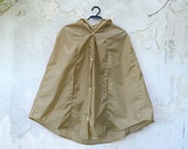 Tan Cape Hooded Raincoat, Waterproof Raincape, Vintage Inspired Rain Jacket