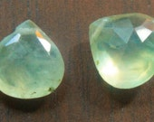 Beautiful Prehnite faceted Heart Briolettes, 11mm to 13mm, Quantity 2