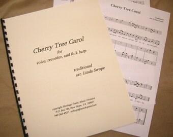 Christmas Music - Cherry Tree Carol - a ballad for voice, folk harp and recorder