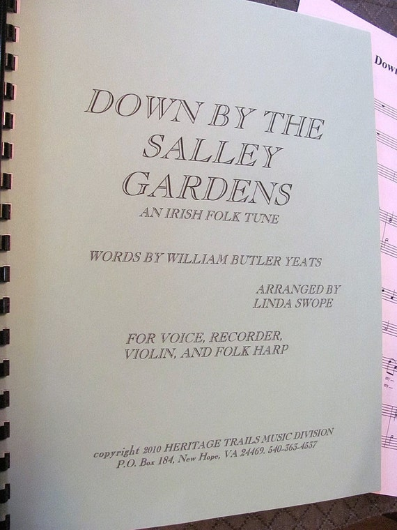Down By The Salley Gardens original arrangement by Linda Swope