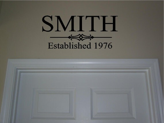 items similar to last name established vinyl lettering With purchase vinyl lettering