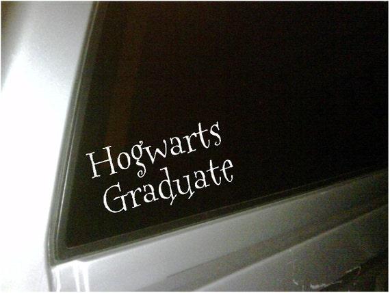 Items similar to hogwarts graduate car decal vinyl - Hogwarts decal ...