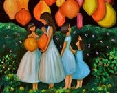 The Lantern Festival (Archival Print 8 x 8), Sisterhood Series