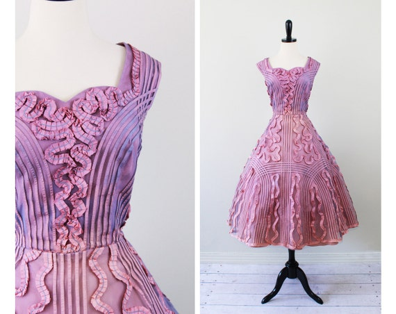 vintage 1950s 50s dress // Fairy Tale Sunset Cupcake Ball Gown Wedding Dress