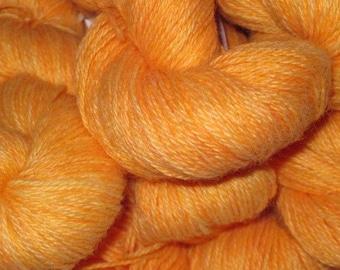 Clementime- Hand-dyed Alpaca / Wool 200 yds. per skein