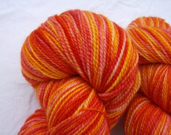 Maple Leaves - Hand-painted Superwash Merino Wool 180 yds. Fingering Weight