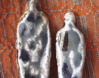 Ceramic Prehistoric Earth Couple Shamanic Figures