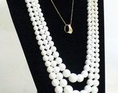 ON SALE Jewelry Display Necklaces Black Velvet 2 Necklace Padded Jewelry Display Holder Stand Easel Back