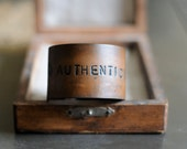 AUTHENTICITY unisex leather  cuff