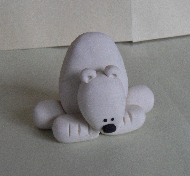 Polymer Clay Polar Bear Figurine
