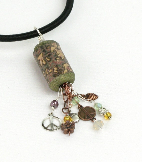 Mokume Gane Earrings: Mokume Gane Necklace Polymer Clay Jewelry Polymer Clay