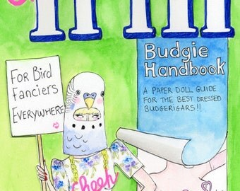Cheep Trill budgie paper doll book