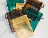 Organza Bags 3x4 inch 60 multi color Fall Forest