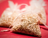 120 Wedding Favor Bird Seed Bags, Your Choice of Color