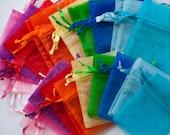 200 Organza Bags, 4x6 inch, multi color 20 of each color