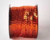 10 yards, Orange Single Strand Sequin Trim
